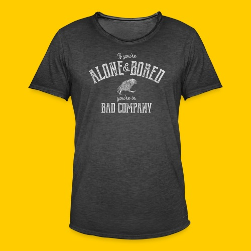 Alone and bored - Vintage-T-shirt herr