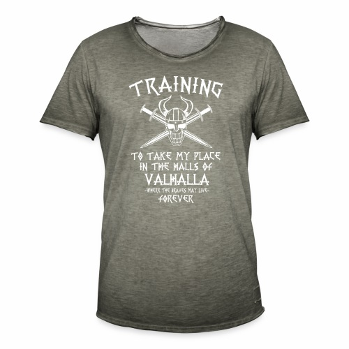 training for Valhalla - Camiseta vintage hombre