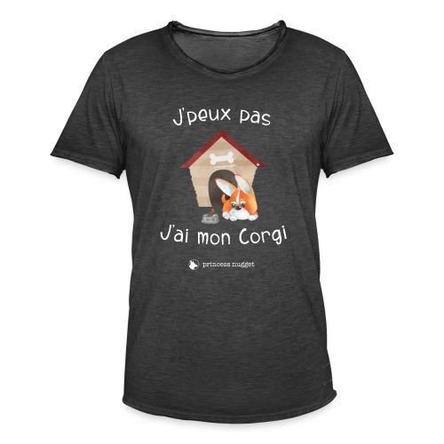 J'peux pas j'ai mon corgi - Grumpy Corgi - T-shirt vintage Homme