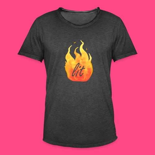 Lit - Männer Vintage T-Shirt