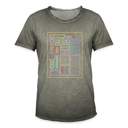 Dnd-merkkilehti - DnD Dungeons & Dragons D & D - Miesten vintage t-paita
