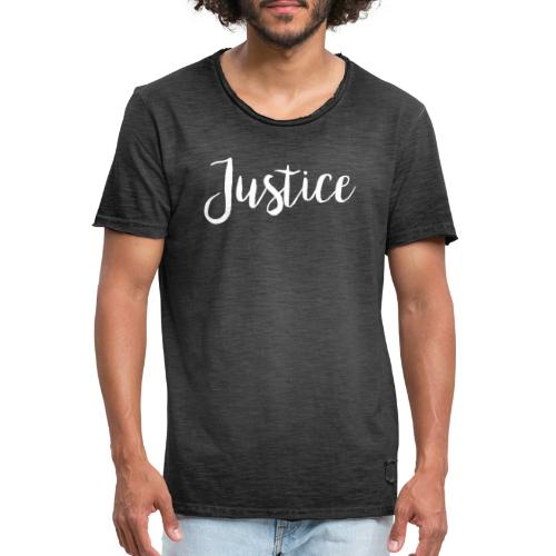 06 Justice - Männer Vintage T-Shirt