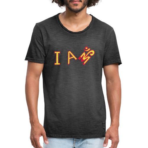 Jeg er Om - Herre vintage T-shirt