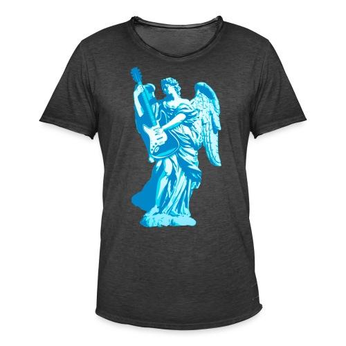 Engel 2018 blauw - Mannen Vintage T-shirt
