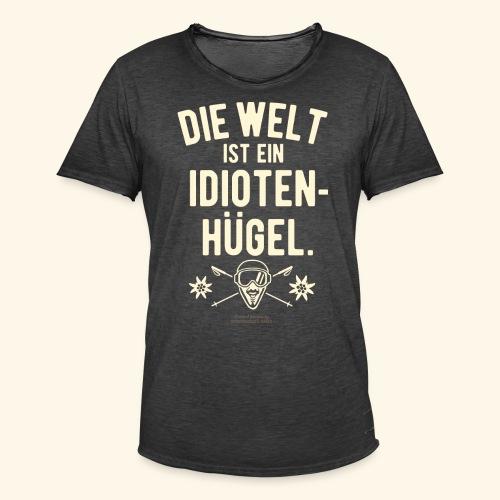 Apres Ski T Shirt Design Idiotenhügel - Männer Vintage T-Shirt