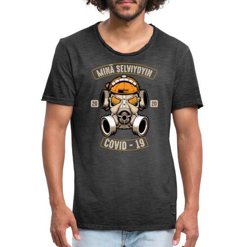 COVID-19, minä selviydyin - Miesten vintage t-paita