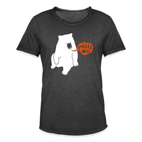 Bär sagt Miau - Männer Vintage T-Shirt