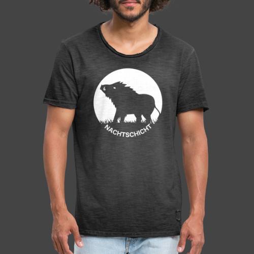 """""""Nachtschicht bei Schweinesonne""""-Shirt für Jäger - Männer Vintage T-Shirt"""