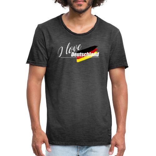 I love Deutschland - Männer Vintage T-Shirt