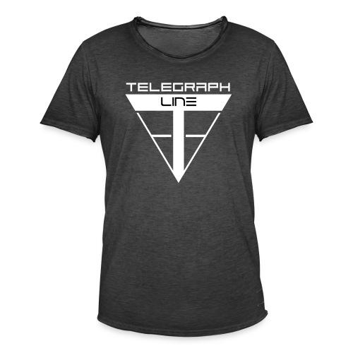 Telegraph Line Logo - Maglietta vintage da uomo