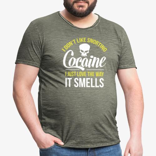 I don't like snorting Cocaine - Herre vintage T-shirt