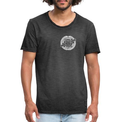 Wappen weiss - Männer Vintage T-Shirt