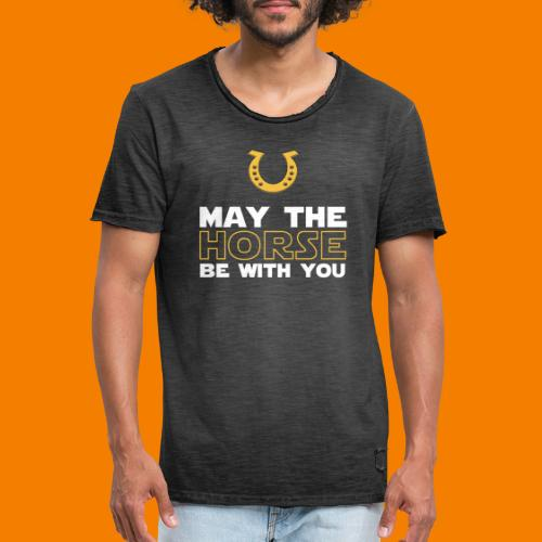 May the horse be with you - Vintage-T-shirt herr