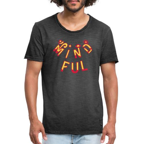 Mindful - Herre vintage T-shirt