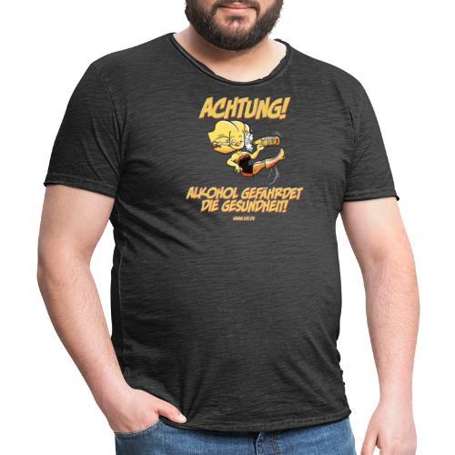 Alkohol gefährdet die Gesundheit - Männer Vintage T-Shirt