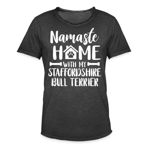 STAFFORDSHIRE BULLTERRIER - NAMASTE - Männer Vintage T-Shirt