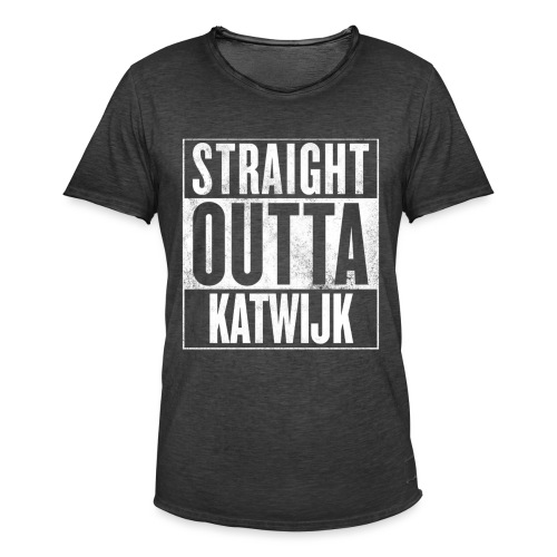 Straight out of Katwijk - Mannen Vintage T-shirt