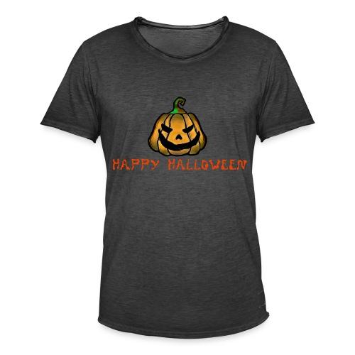 Happy Halloween Pumpkin - Men's Vintage T-Shirt
