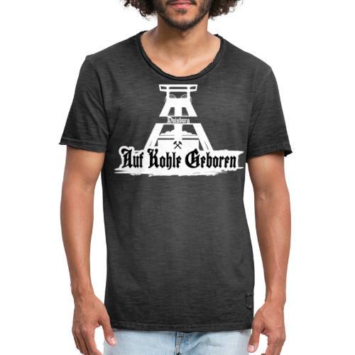 Duisburg White - Männer Vintage T-Shirt