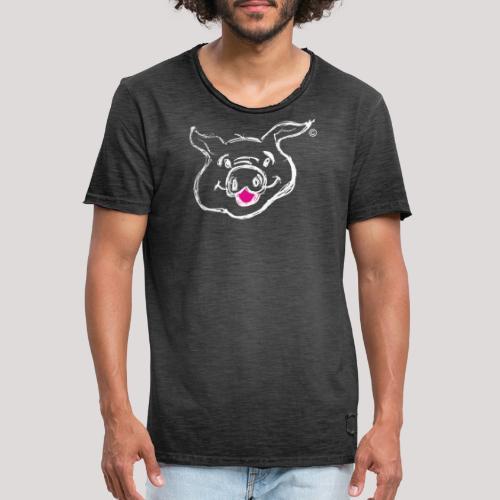 HAPPY PIGPIGGY White - Men's Vintage T-Shirt