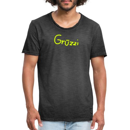Grüzzi Handgeschrieben - Männer Vintage T-Shirt