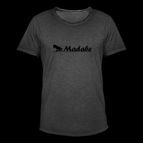 Cap black - Männer Vintage T-Shirt
