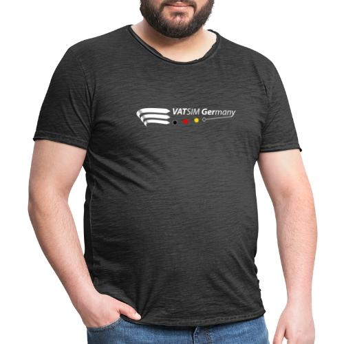 VATGer Logo White - Männer Vintage T-Shirt
