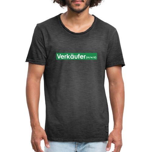Verkäufer (m/w/d) - Männer Vintage T-Shirt