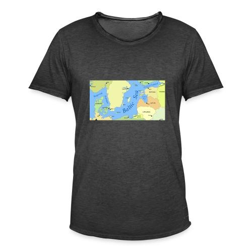 Baltic Sea Map - Men's Vintage T-Shirt