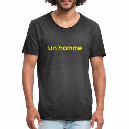 Un homme - Mannen Vintage T-shirt