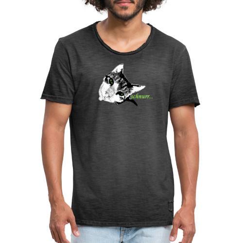 Katze schnurr - Männer Vintage T-Shirt