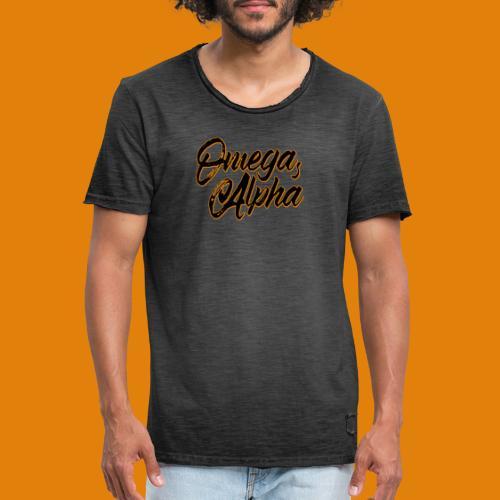 Omega's Alpha - Männer Vintage T-Shirt