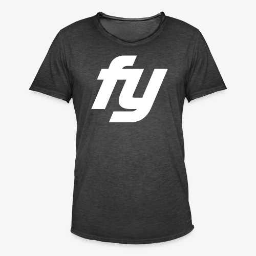 Logo Trendy Weiss - Männer Vintage T-Shirt