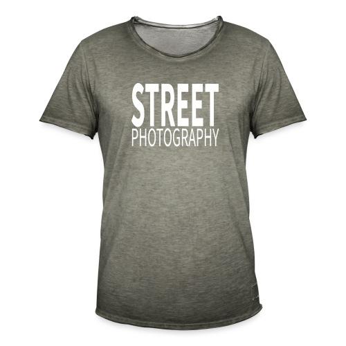 Street Photography T Shirt - Maglietta vintage da uomo