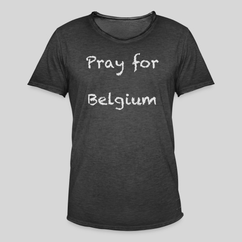Pray for Belgium - T-shirt vintage Homme