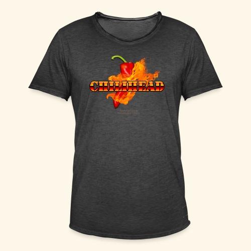 Chili Fan T Shirt Design Chilihead - Männer Vintage T-Shirt