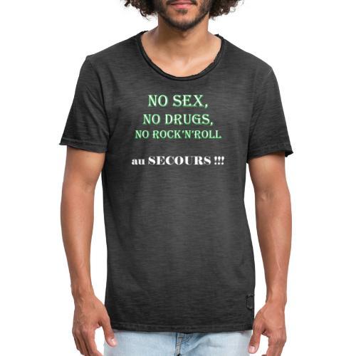 sex drugs rock'n'roll - T-shirt vintage Homme