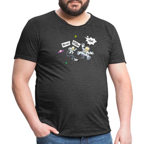 Husten wir haben ein Problem - Männer Vintage T-Shirt