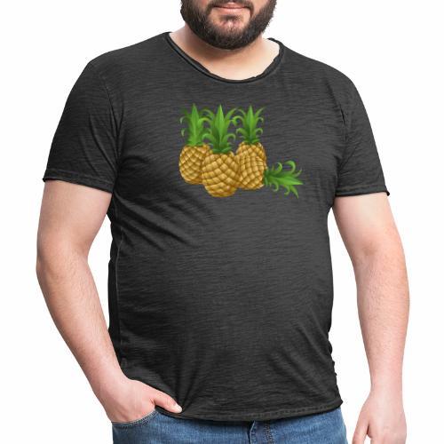 Ananas - Männer Vintage T-Shirt