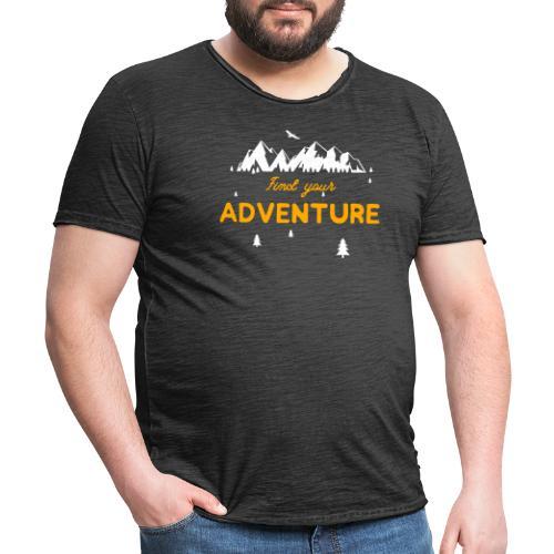 CERCA L'AVVENTURA - Maglietta vintage da uomo