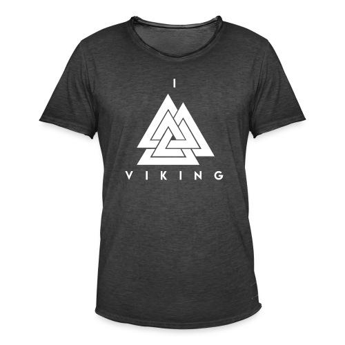 I lov Viking White - T-shirt vintage Homme
