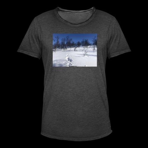 Fin natur - Vintage-T-skjorte for menn