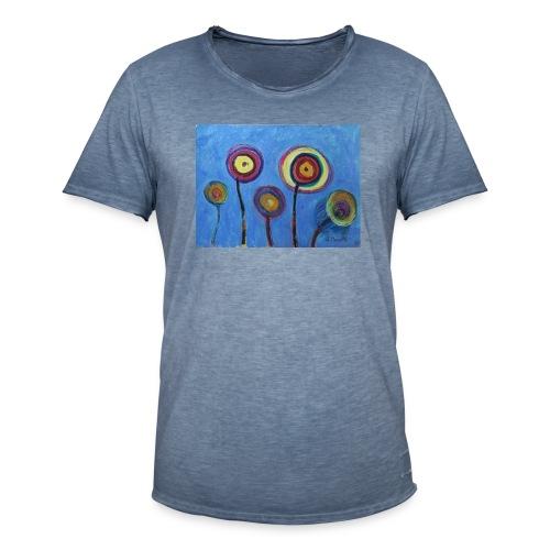 Blue flower - Maglietta vintage da uomo