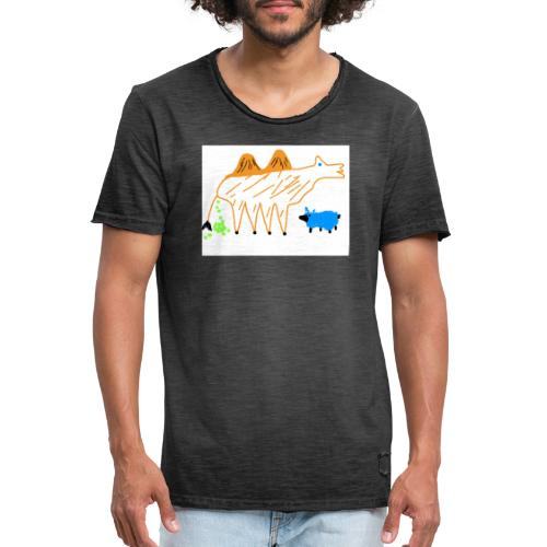 T-Shirt - The Carmel and the blue sheep - Männer Vintage T-Shirt