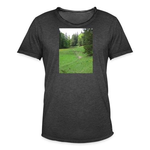 Grüne Landschaft - Männer Vintage T-Shirt