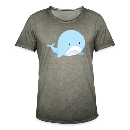 Whale - Maglietta vintage da uomo