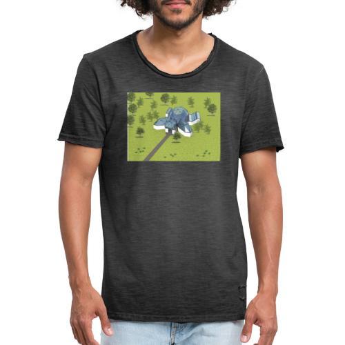 Żółwiarium - Koszulka męska vintage