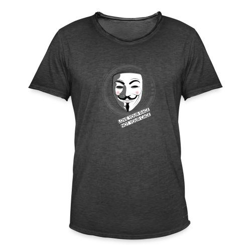 Anonymous Love Your Rage - Men's Vintage T-Shirt
