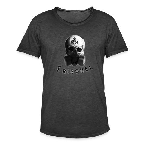 Trisquel Negro - Camiseta vintage hombre