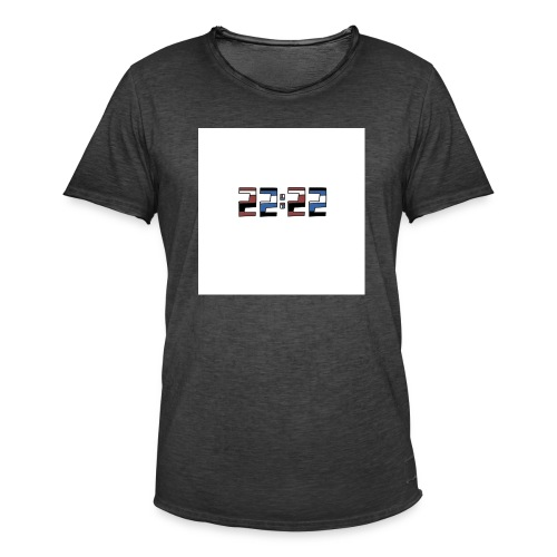 22:22 buttons - Mannen Vintage T-shirt